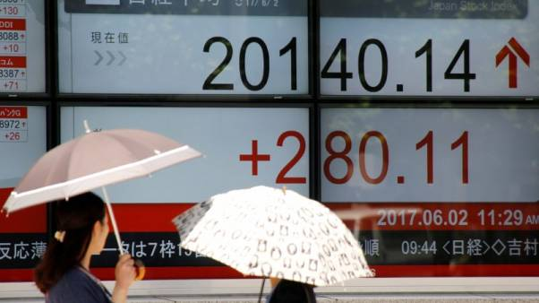 Asia stocks gain on firmer Wall Street, China hopes; U.S. yields elevated