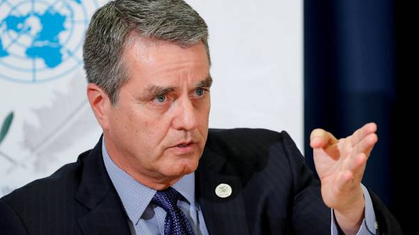 WTO chief sees trade war ending in political talks