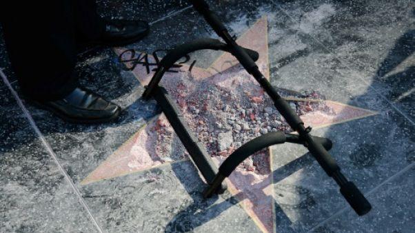 L'étoile de Donald Trump à Hollywood vandalisée