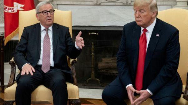 """Commerce: rencontre """"productive"""" Trump et Juncker à la Maison Blanche"""