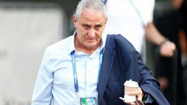 Le sélectionneur brésilien Tite à Kazan (Russie) le 7 juillet 2018