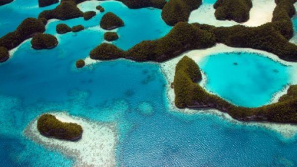 Photo non datée des îles Palaos obtenue le 28 octobre 2015