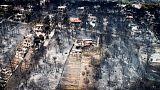 استمرار البحث عن ناجين من حريق غابات في اليونان