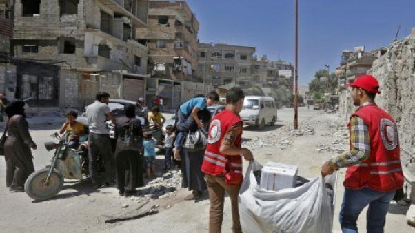 Syrie: livraison d'une aide française dans la Ghouta orientale