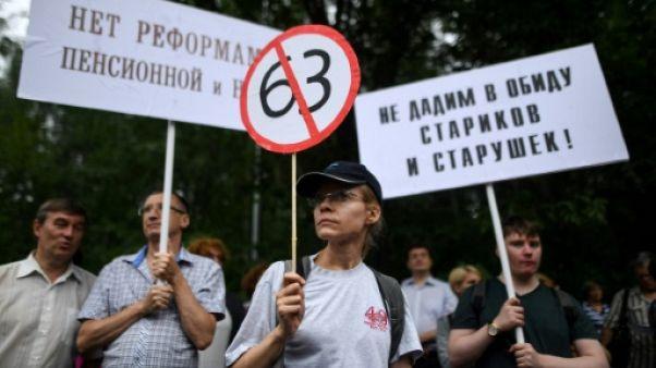 Manifestation à Moscou contre la réforme des retraites, le 18 juillet 2018