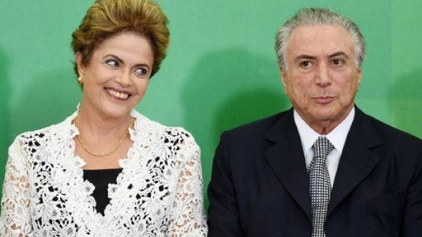 Dilma Rousseff et Michel Temer à Brasilia, le 5 octobre 2015