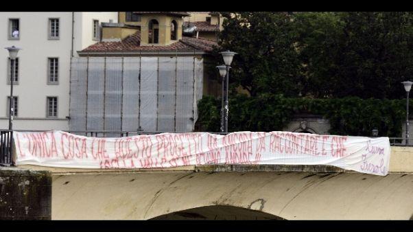 Fiorentina:striscione contro Della Valle