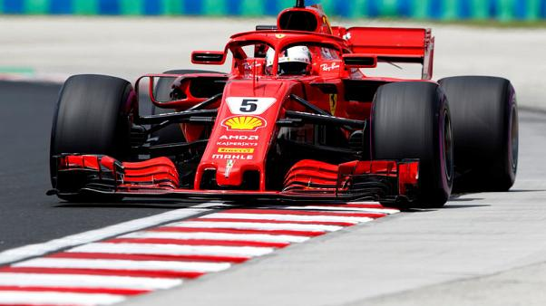 Motor racing - Vettel fastest in Hungary but Mercedes in a spin