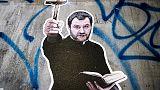 A Roma spunta murales Salvini in tonaca