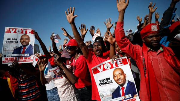 Zimbabwe rivals promise victory in pitch for votes at final election rallies