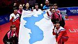 Des Nord-Coréens arrivent au Sud pour s'entraîner avant les Jeux asiatiques