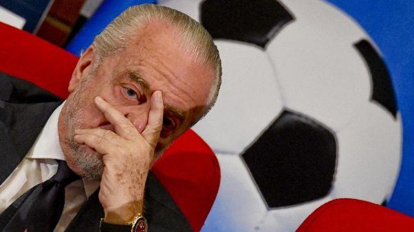 C.Italia: De Laurentiis critica Lega