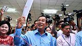"""Cambodge: le parti d'Hun Sen """"a remporté l'ensemble des sièges"""" selon son porte-parole"""