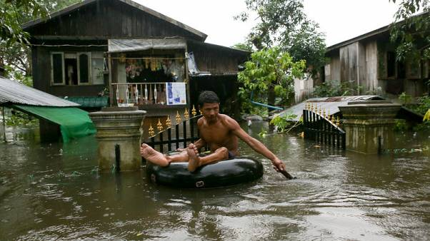 Myanmar floods force more than 100,000 to flee homes