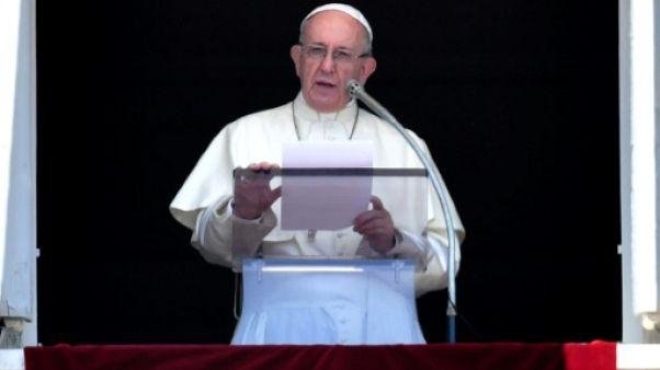 Le pape lors d'un discours place Saint-Pierre au Vatican le 22 juillet 2018
