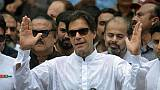 L'ex-champion de cricket Imran Khan à Islamabad, le 25 juillet 2018