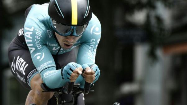 Le Français Bryan Coquard lors du Critérium du Dauphiné le 3 juin 2018