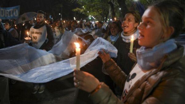 Argentine : manifestation des anti-avortement, une semaine avant le vote du Sénat