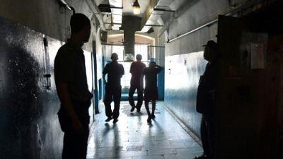 Dans un couloir de la prison Loukianivska à Kiev, le 6 juillet 2018