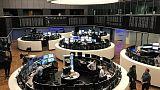 European shares hold steady as results season steams along
