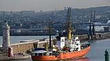 L'Aquarius arrive dans le port de Marseille le 29 juin 2018