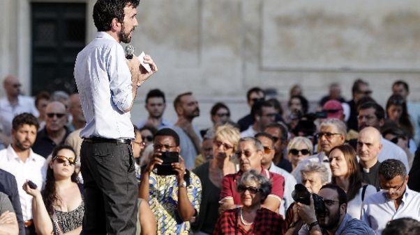 Razzismo, sit-in del Pd in piazza a Roma