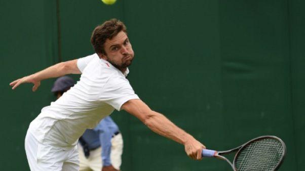 Le Français Gilles Simon lors du tournoi de Wimbledon le 10 juillet 2018