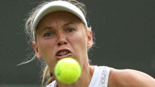 La Danoise Caroline Woaniacki à Wimbledon le 4 juillet 2018