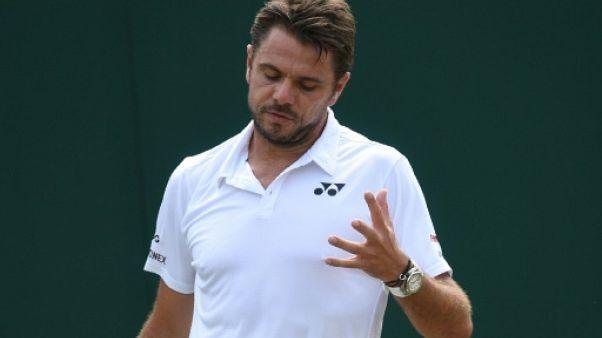 Le Suisse Stan Wawrinka à Wimbledon, le 5 juillet 2018