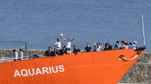 L'Aquarius le 29 juin 2018 à Marseille