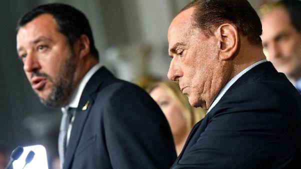 Salvini, Lega in c.destra. Cav convinto