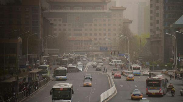 Dans une rue de Pékin, le 28 mars 2018