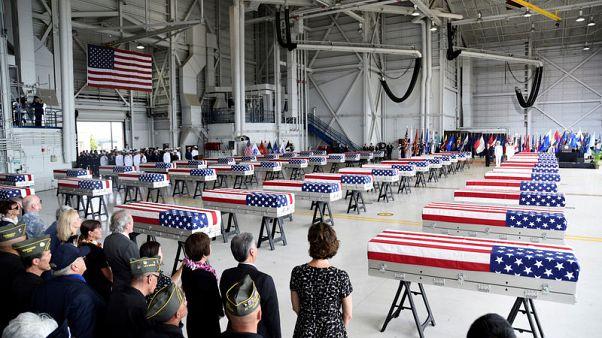 أمريكا تستقبل رفاتا يفترض أنه لقتلى سقطوا في الحرب الكورية