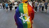 Un participant à la Gay Pride à Jérusalem le 2 août 2018