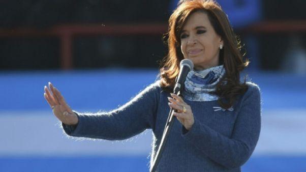 L'ex-présidente argentine Cristina Kirchner à Buenos Aires le 20 juin 2017