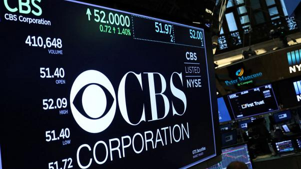 CBS beats Wall Street estimate, Moonves silent on allegations