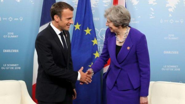 Macron reçoit May pour parler Brexit pour la première soirée de ses vacances