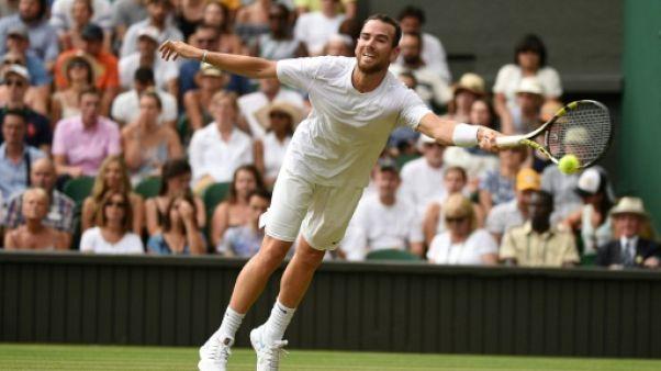 Le Français Adrian Mannarino à Wimbledon, le 9 juillet 2018