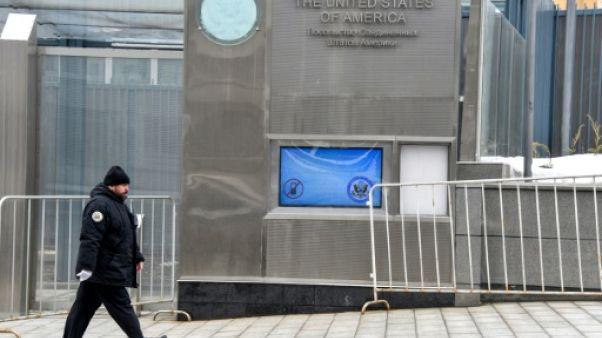 L'ambassade des Etats-Unis à Moscou, le 2 avril 2018