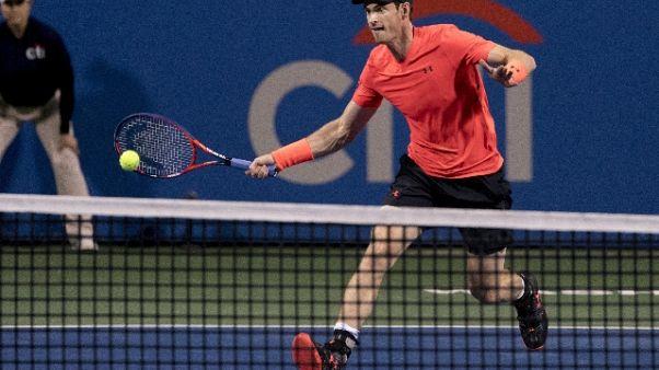 Citi Open, Murray ai quarti in lacrime