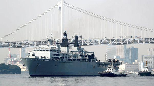 سفينة برمائية هجومية بريطانية تصل طوكيو