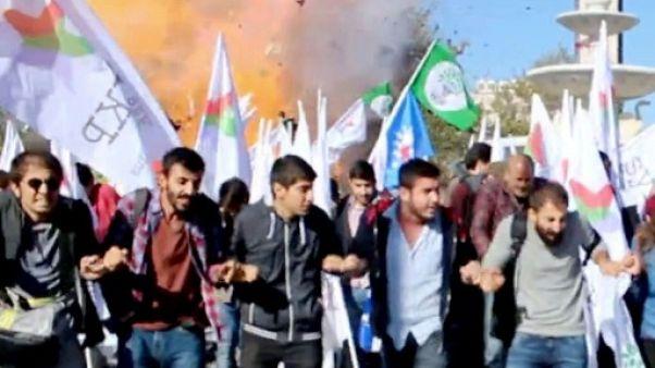 Attentat devant la gare d'Ankara en 2015: prison à vie pour 9 personnes
