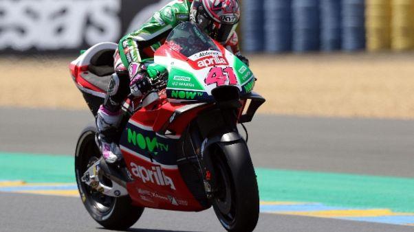 Moto: Aprilia, Espargarò soffre a Brno
