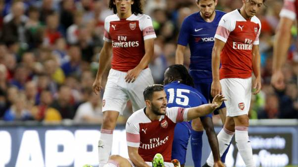 Arsenal's Kolasinac faces up to 10 weeks out with knee problem