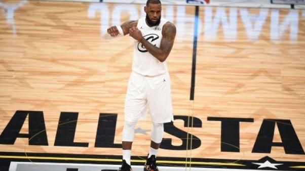 LeBron James durant le NBA All-Star Game à Los Angeles le 18 février 2018