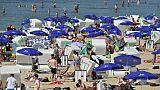 Des vacanciers sur une plage, le 4 août 2018 à Berlin