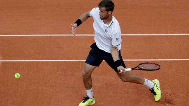 Le Slovaque Martin Klizan à Roland-Garros, le 30 mai 2018