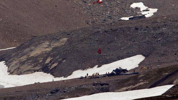 Up to 20 feared dead in Swiss Alps plane crash