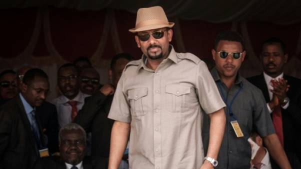 Le Premier ministre éthiopien, Abiy Ahmed, à Djibouti, le 5 juillet 2018