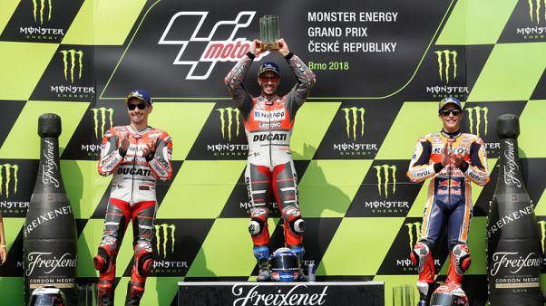Motorcycling: Ducati's Dovizioso wins three-way Czech GP thriller